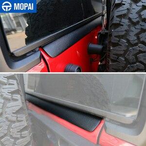 Image 5 - MOPAI רכב קדמי אחורי סורג מנוע חול אבן בלוק רוח אוויר הטית מגן כיסוי אביזרי עבור ג יפ רנגלר JK 2007 2017