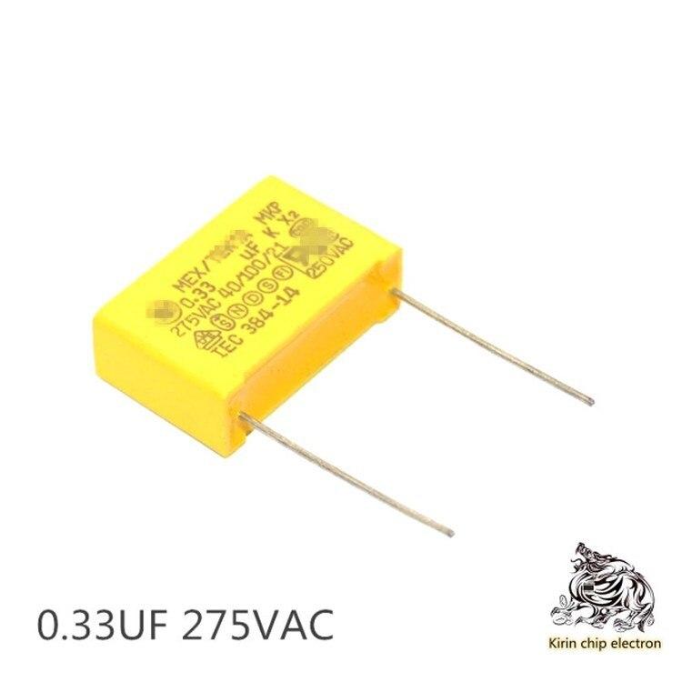 500pcs Lot 275v334k 0 33uf X2 Gauge Capacitor 330 Nf Foot Distance P 15 Mm 22mm Capacitors Aliexpress
