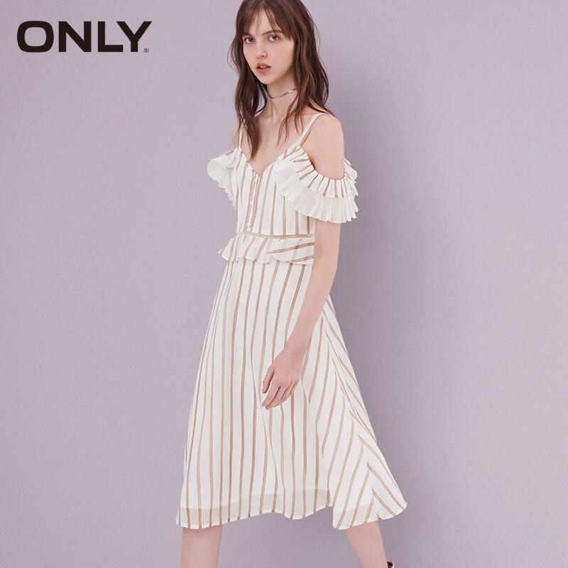 ONLY Gauzy Splice A-lined Chiffon Slip Dress |119107656