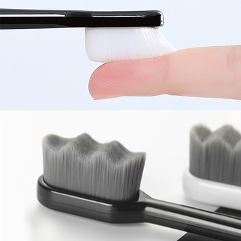 2/3pcs Ultra-fine Toothbrushes Wave Nano Million Bristles Micro Soft Tooth Brush With Holder Portable Oral Care Eco Product Kit 1