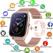 2021 New Full Touch Color Screen Waterproof Smart Watch Women Men Sport Fitness Tracker Blood Pressure Smart Clock Smartwatch