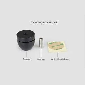 Image 5 - HIFI مكبرات الصوت مكبر للصوت الهيكل الفولاذ المقاوم للصدأ/سبائك الألومنيوم امتصاص الصدمات وسادة للقدم قدم قاعدة مسمار المسامير تقف G1023