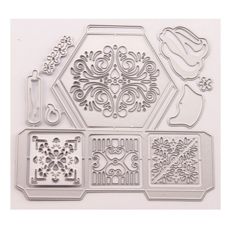 Birthday iSuperb Cutting Dies Stencil for Scrapbooking Embossing Making Paper Card Crafts,Metal Mold for DIY Photo Album Creative Tools