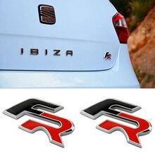 Стайлинг автомобиля 1 шт. 3D металлические наклейки FR Автомобильный задний багажник кузов Эмблема для Seat FR + Leon Ibiza cupra Altea ремень гоночные аксе...