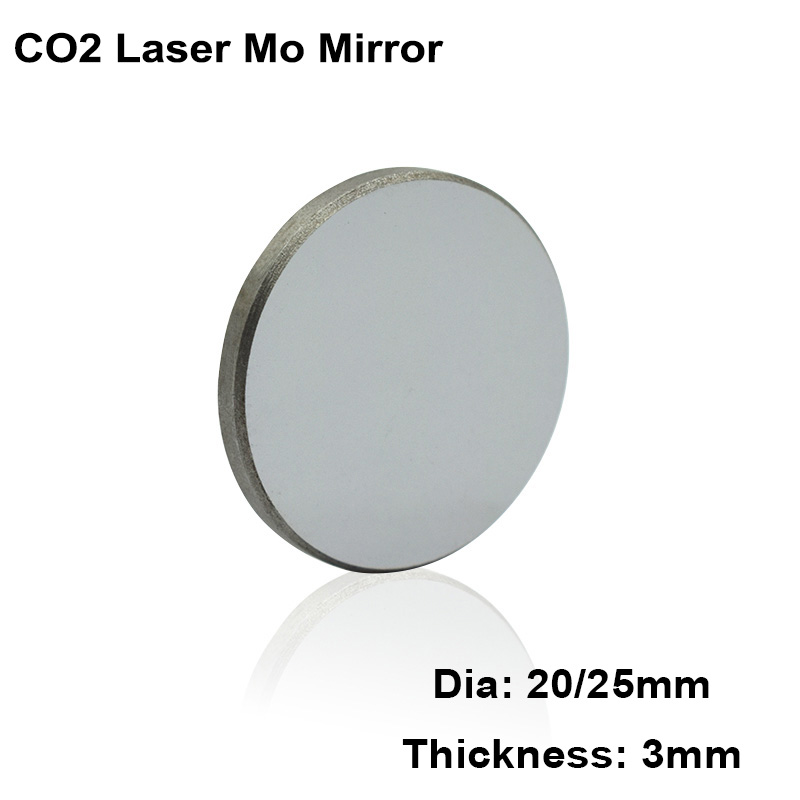 1pc Mo Laser Mirror Dia 20mm 25mm Reflective Lens Reflector CO2 Cutting Engraving Machine Laser Engraver Cutter Parts