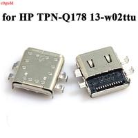 1 Uds TYPE-C de puerto de cargador usb para HP TPN-Q178 13-w02ttu 13-ac 13-w 10-n pabellón x2 10-n dc Puerto conector de carga hembra