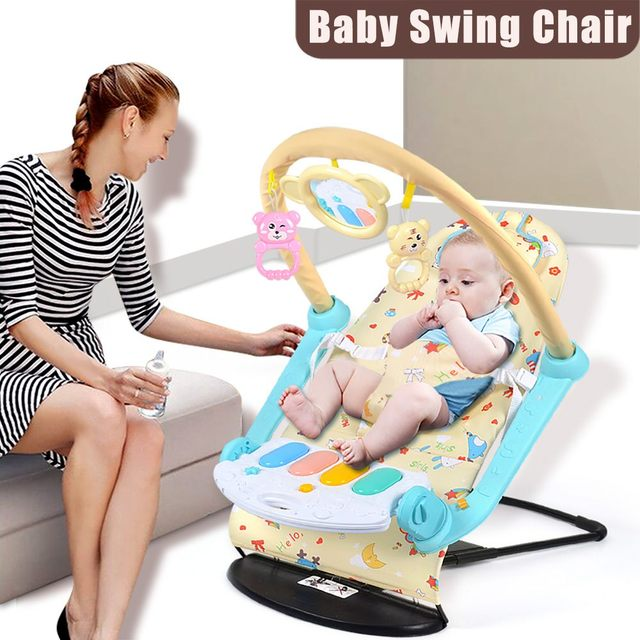 Newborn Baby Swing Chair Rocking Chair Multifunctional Music Adjustable Swing Baby Comfort Chair Baby Cradle Suitable for Kids 1