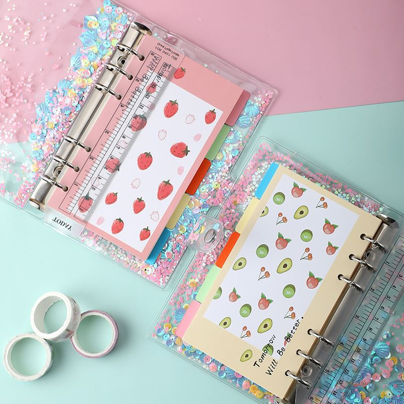 A6 Diary Notebook Cute Agenda Planner Organizer Korean Notepad Kawaii 6 Rings Note Book Spiral Handbook