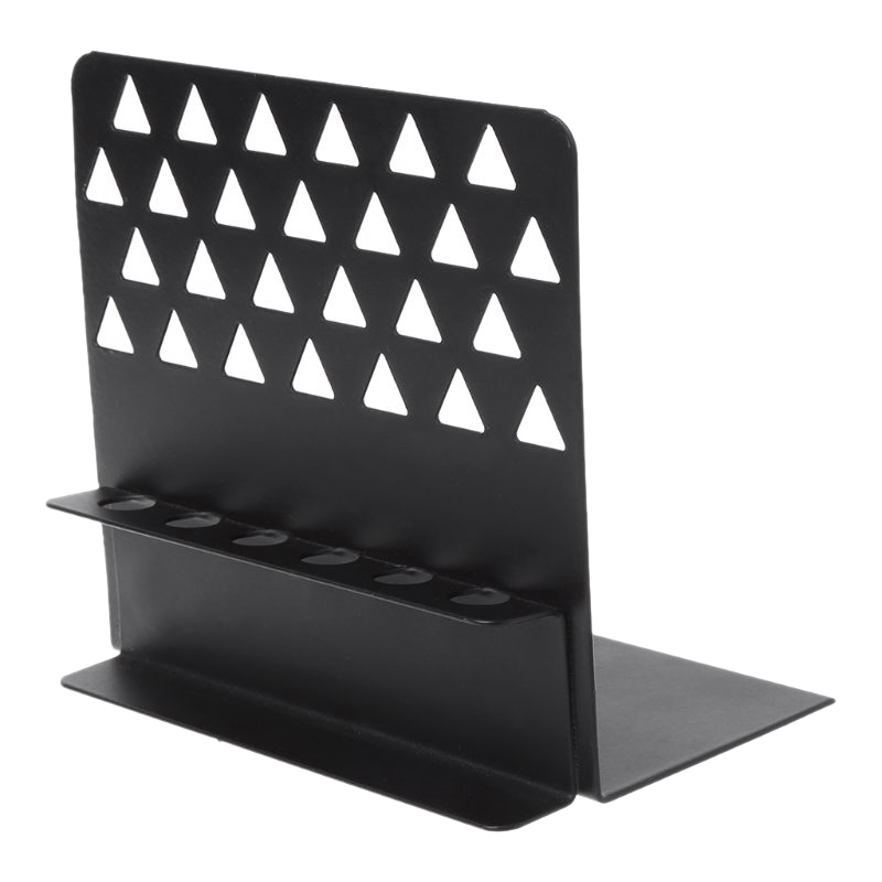 Black New Creative Metal Bookends With Pen Holder Desk Organizer Stand Office Home Decor