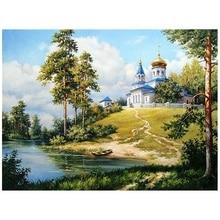Лучшая алмазная живопись, летняя живописная ручная работа, домашний декор, полная круглая дрель, алмазная вышивка, распродажа, пейзаж, картина, стразы