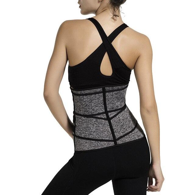Neoprene Sauna Waist Trainer Corset Sweat Belt Women Weight Loss Burning Fat Compression Trimmer Fitness Waist Support 4
