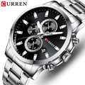 Top CURREN Watch Mens Brand Luxury Quartz Fashion Men Watches Waterproof Sports Wrist Watch Steel Chronograph Relogio Masculino