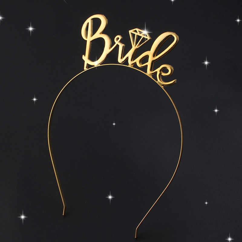 Braut Brautjungfer Tiara Crown Bachelorette Hen Party Braut Zu Werden Stirnband Bachelorette Hen Party Braut Dusche Hochzeit Mädchen Geschenk