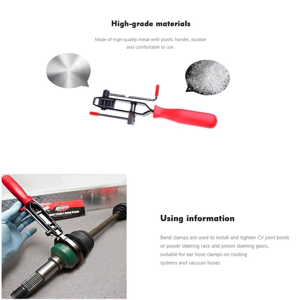 Automotivo cv joint boot clamp ferramenta à prova de poeira boot bundle braçadeira aro cinto alicate chave mangueira clipe aperto ferramenta de dobra # yl10