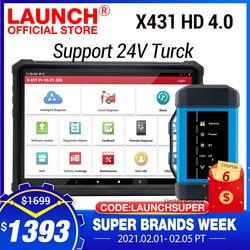 2020 LAUNCH X431 V Plus tablet & HD 4.0 Truck Full System Diagnostic tool obd2 bluetooth HD heavy duty support 24 Truck DHL free