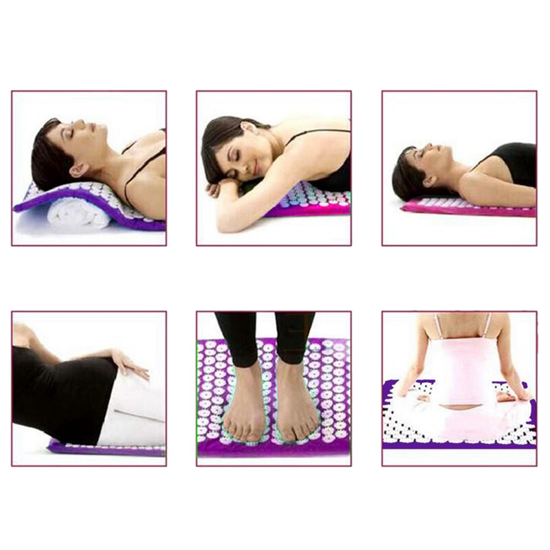 Body Relaxing Acupressure Massage Mat with Pillow for Neck and Back pain 5