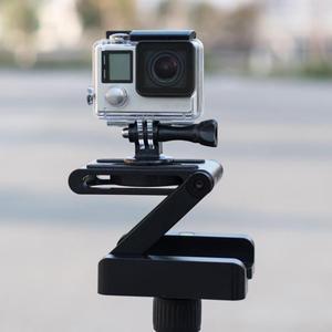 Image 1 - Складной штатив ALLOYSEED Z, гибкий наклон, из алюминиевого сплава, складная наклонная головка Z, БЫСТРОРАЗЪЕМНАЯ пластина, подставка, крепление для телефонов и камер