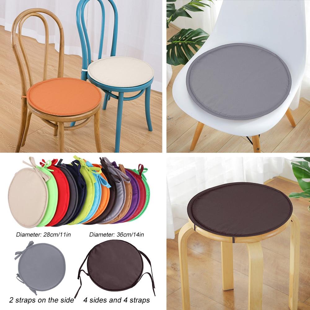 Cojines redondos para sillas de comedor, cojines de oficina, cojines de asiento con cuerdas, cojines para estudiantes, 28x28cm, venta al por mayor
