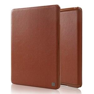 Para iPad 10,2 2019 funda abatible de piel de vaca funda protectora plegable de negocios cubierta inteligente para iPad de Apple de 10,2 pulgadas
