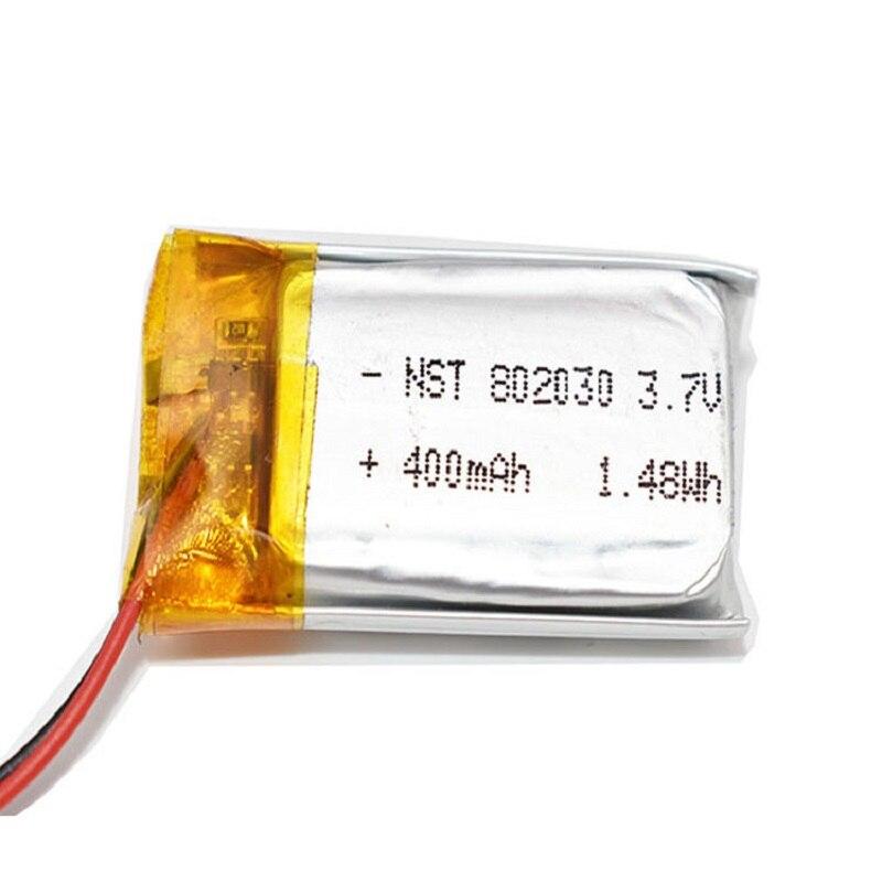 802030 082030 500mah 3.7v bateria de polímero de lítio mp3 mp4 gps brinquedos pequenos