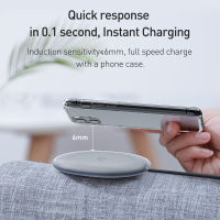 Baseus Jelly Wireless Charger 15W Fast Qi Wireless Charger For iPhone Airpods Pro Quick Wireless Fast Charging Pad Phone Charger
