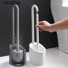 GESEW туалетная щетка портативный инструмент для чистки креативный черный и белый двухцветные аксессуары для ванной комнаты Бытовая щетка для чистки