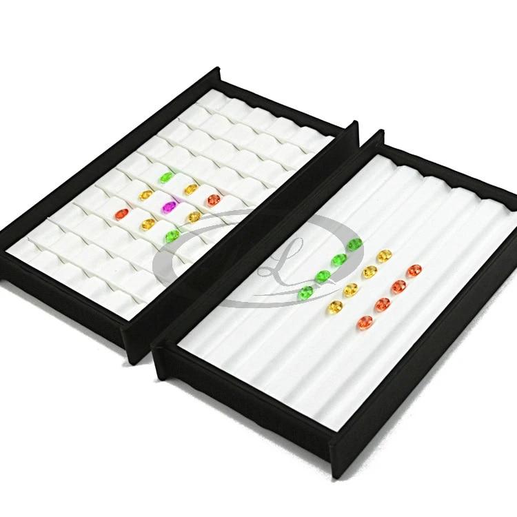 Diamond Display velvet Tray Stone Storage Gem Jewelry Holder Gems Tray 25x18