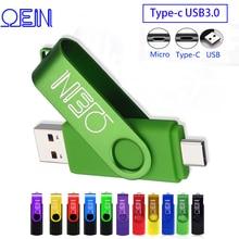 OTG кабель 3 в 1 флэш-накопитель 128 ГБ Тип флэш-накопители USB 3.0 объемом 256 ГБ флешки 16 ГБ ключ USB флешки 32 ГБ ОТЗ памяти USB 64 ГБ микро-