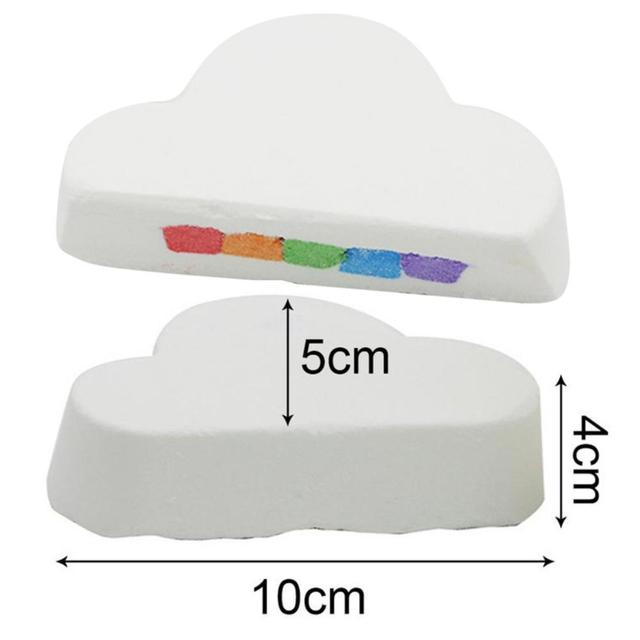 1pc 160g Rainbow Cloud Natural Bath Bomb Organic Moisturizing Bubble Bath Salt Ball Body Essential Oil Bubble Bath TSLM1 3