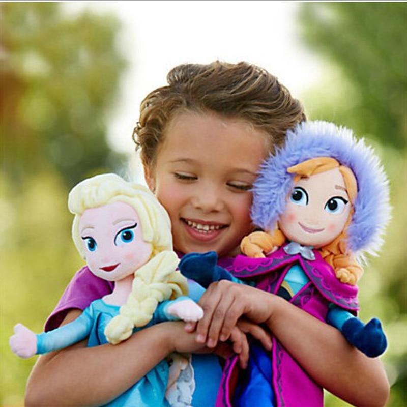2pcs/set 40/50CM Frozen Anna Elsa Dolls Snow Queen Princess Anna Elsa Doll Toys Stuffed Frozen Plush Kids Toys Birthday Gift