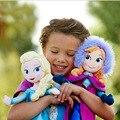 2 шт./компл. 40/50 см куклы Холодное сердце Анна Эльза, Снежная королева, принцесса Анна Эльза, кукла, игрушки, мягкие игрушки из плюша Холодное с...