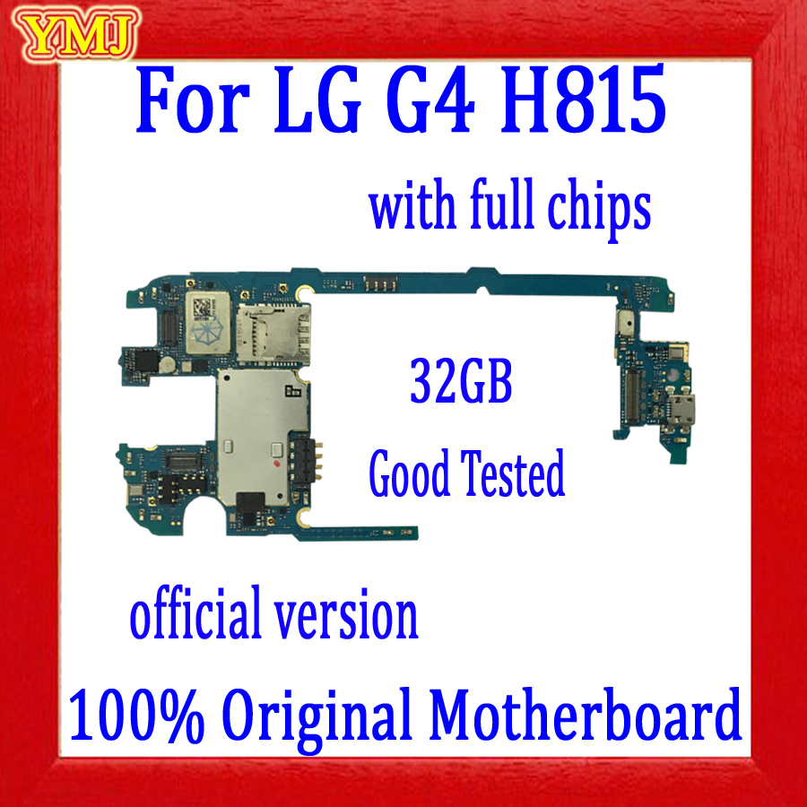 Free Shipping,100% Original for <font><b>LG</b></font> G4 <font><b>H815</b></font> <font><b>Motherboard</b></font> with Full Chips,32gb for <font><b>LG</b></font> G4 <font><b>H815</b></font> Logic board with Android System image