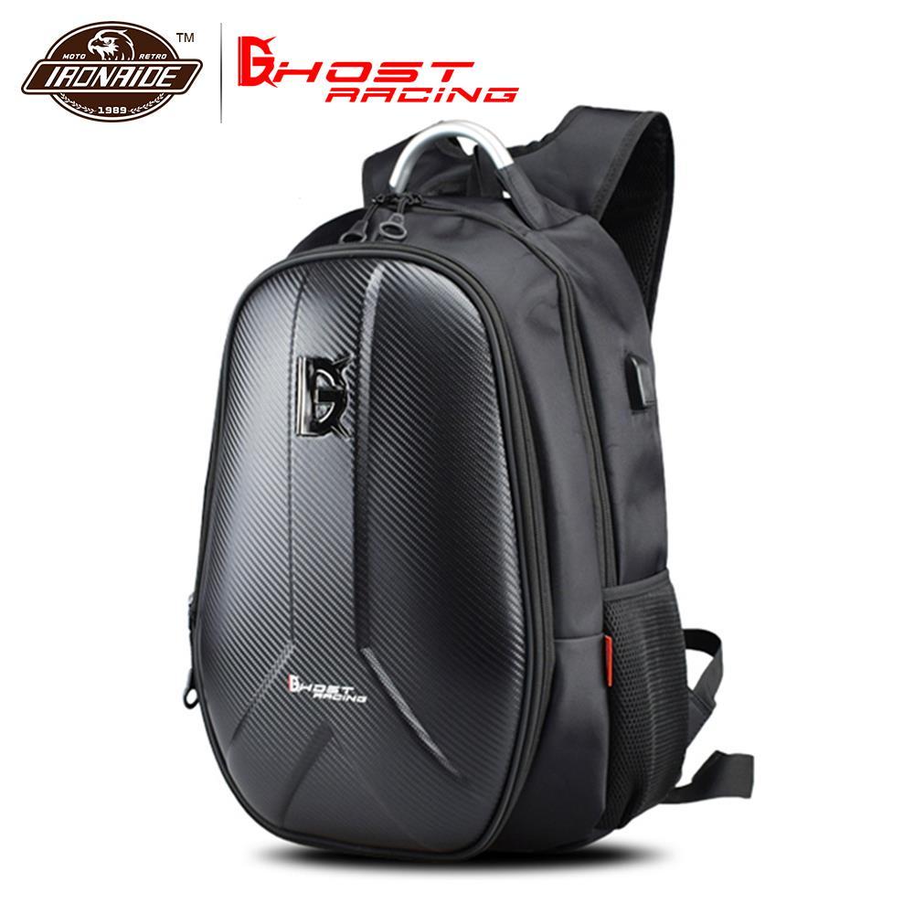 GHOST RACING impermeable motocicleta bolsa motocicleta mochila tanque bolsa fibra de carbono Moto casco bolsas equipaje de viaje #