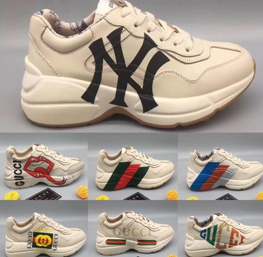 Rhyton Vintage Trainer Shoe With Print