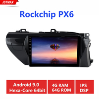 10.2 IPS Car Radio multimedia TDA7850 Android 9.0 4G+64G for Toyota Hilux 2016 2017 2018 RHD Bluetooth GPS Navigation 1din Auto