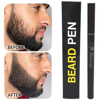 1pcs Men Beard Growth Pen Facial Hair Sideburn Mustache Repair Shape Regrowth Pen Beard Enhancer Nourish Shaping Anti Hair Loss 1