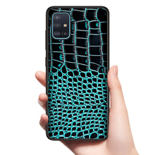 Bolso de piel auténtica de cocodrilo para Samsung Galaxy A51, A71, A10S, A20S, S20, S10 Plus, A50, A70, A81, A91, A21, A01, mejor funda de protección