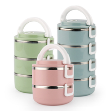Stainless Steel Thermos Lunch Box For Kids Japanese Adult Bento Box Portable Leak Proof Lunchbox School Food Container Storage