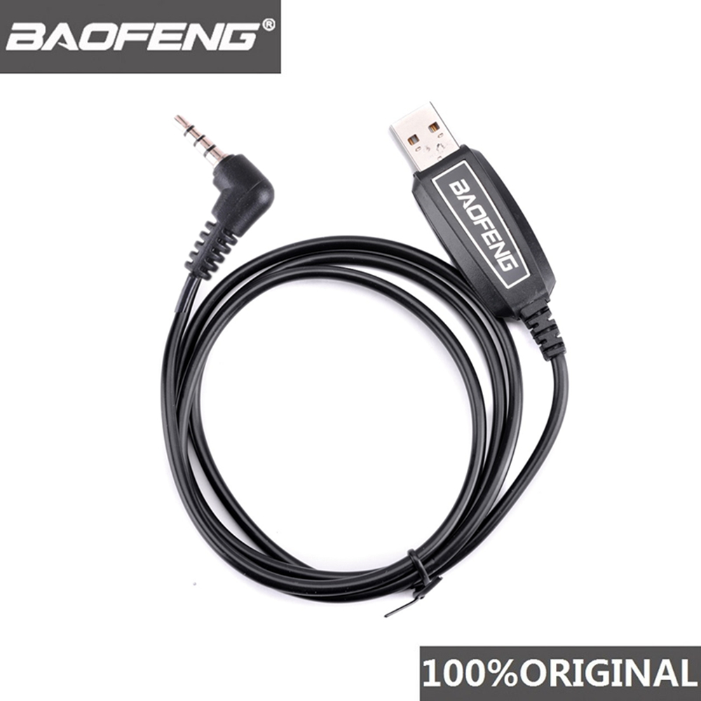 100% Original Baofeng UV-3R Walkie Talkie USB Programming Cable UV 3R Two Way Radio Program Line UV3R Software Change Frequency