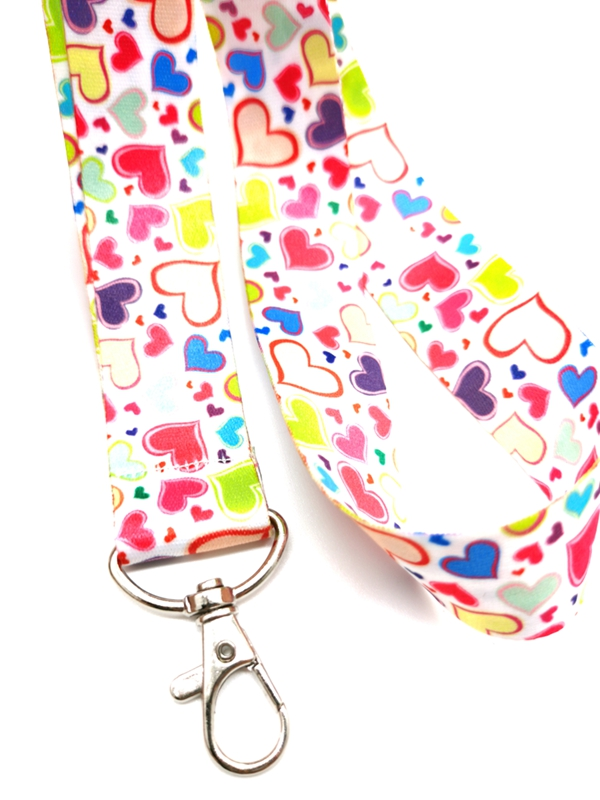 New cartoon Heart Neck Strap Lanyards  Badge Holder Rope Pendant Key Chain Accessorie