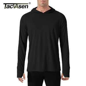 Image 4 - TACVASEN Sun Protection T Shirts Men Long Sleeve Casual UV Proof Hooded T Shirts Breathable Lightweight Performance Hike tshirts