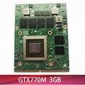 Оригинал GTX 770M GTX770M VGA Видеокарта N14E-GS-A1 3G DDR5 для ноутбука MSI GT60 GT70 GT780DX 16F3 16F4 1762 1763 тест 100%