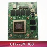 Original GTX 770M GTX770M VGA graphics Card N14E GS A1 3G DDR5 for Laptop MSI GT60 GT70 GT780DX 16F3 16F4 1762 1763 test 100%
