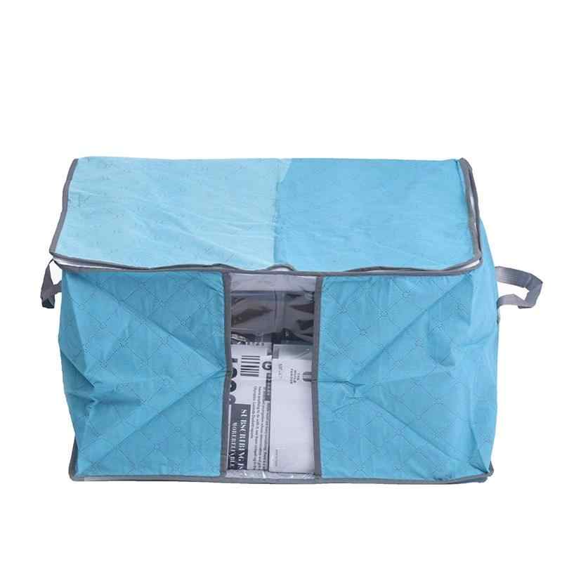 1 Pcs Household Non-Woven Quilt Buggy Bag Two-Way Thick Moisture-Proof Dustproof Toy Clothing Finishing Storage Bag
