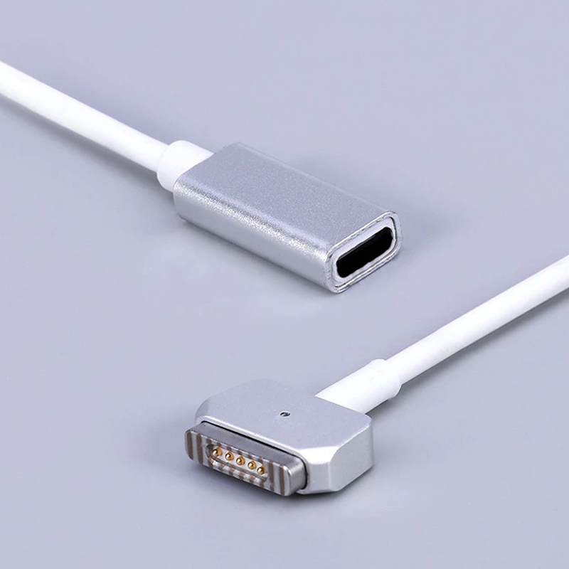USB C Type C Femal To Magsaf* 1/2 Cable Cord Adapter For Apple MacBook Air/MacBook Pro 45W 60W 85W 12/13/15