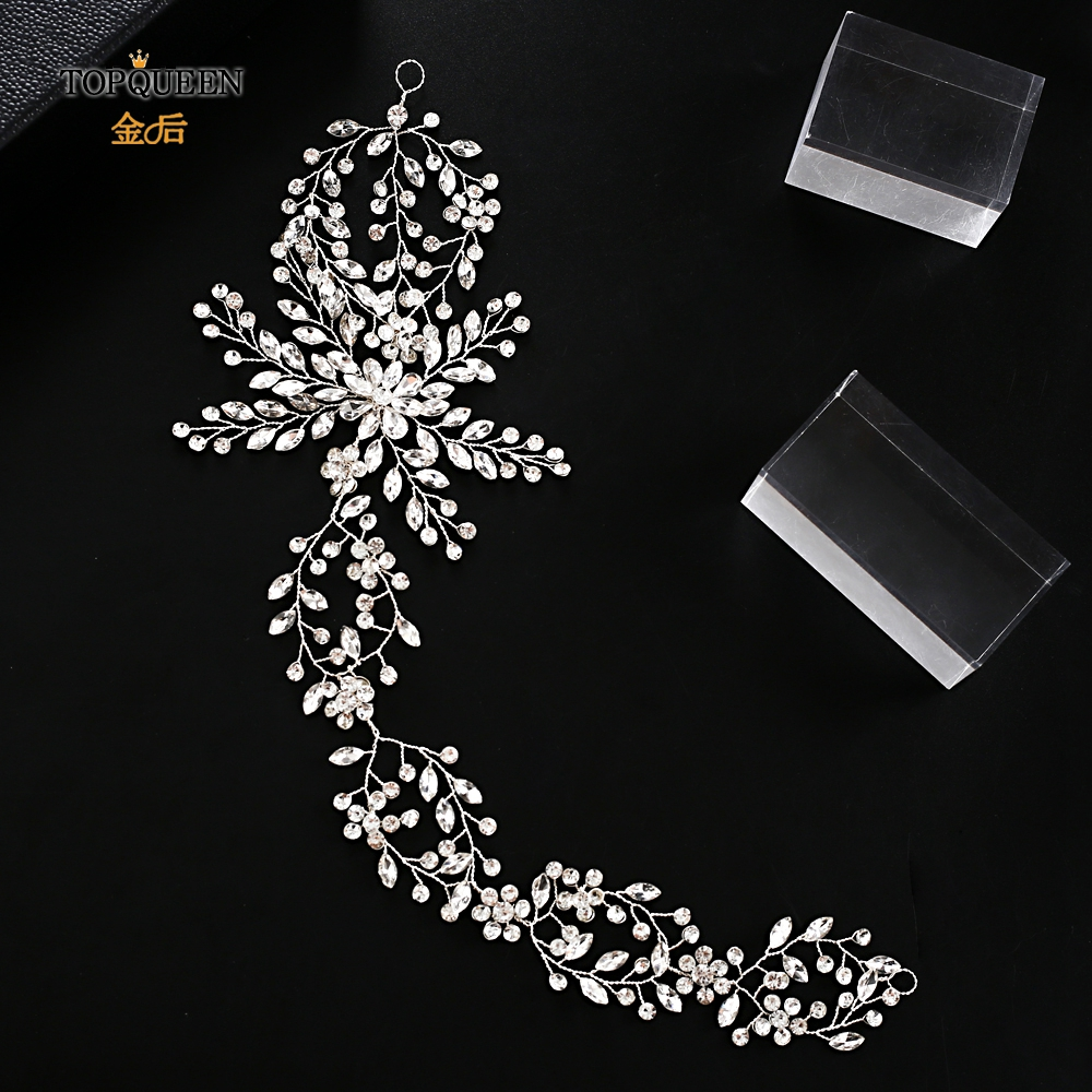 TOPQUEEN HP242 New Fashion Luxury Bridal Crown Wedding Hair Accessories Bridal Crowns Wedding Headband Bridal Headpieces