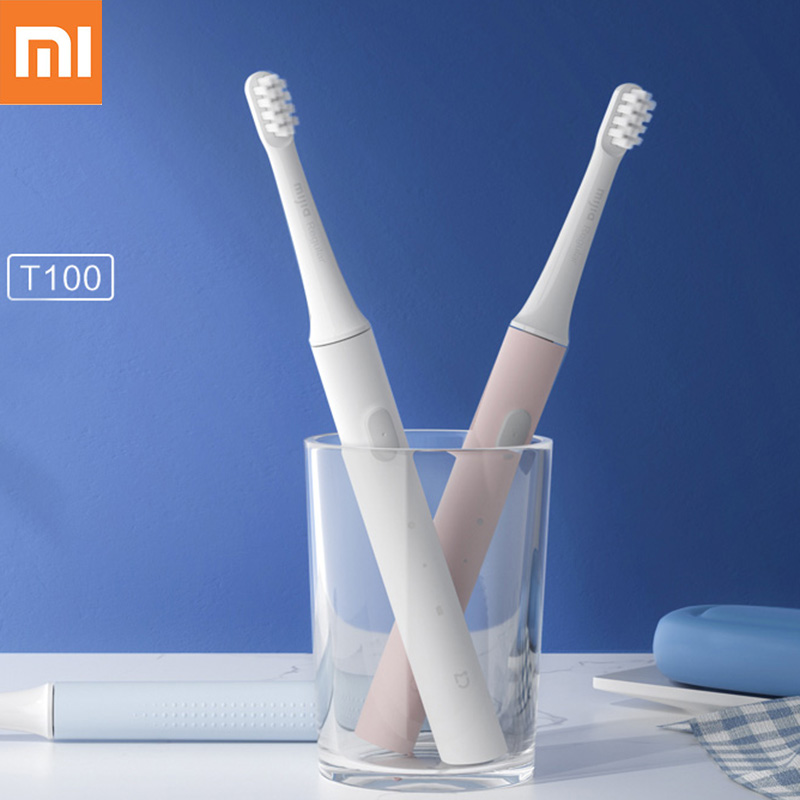 Original Xiaomi Mijia T100 Smart Electric Toothbrush 46g 2 Speed Xiaomi Sonic Toothbrush Whitening Oral Care Zone Reminder image