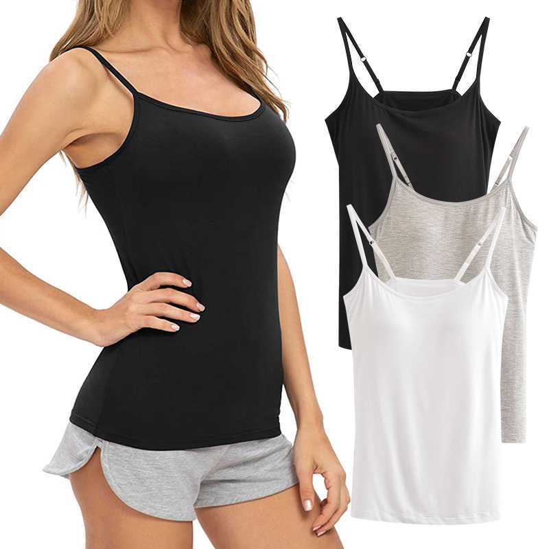 Yoga Tops for Women U-Neck Sling Vest Padded Sports Bra Fitness Workout Running Shirts Yoga Tank Top