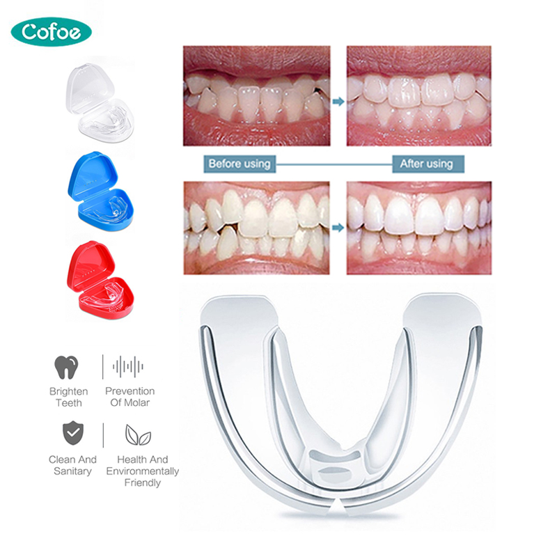 Cofoe Orthodontic Soft Braces Dental Braces Instanted Silicone Teeth Alignment Trainer Teeth Retainer Mouth Guard Braces Tooth
