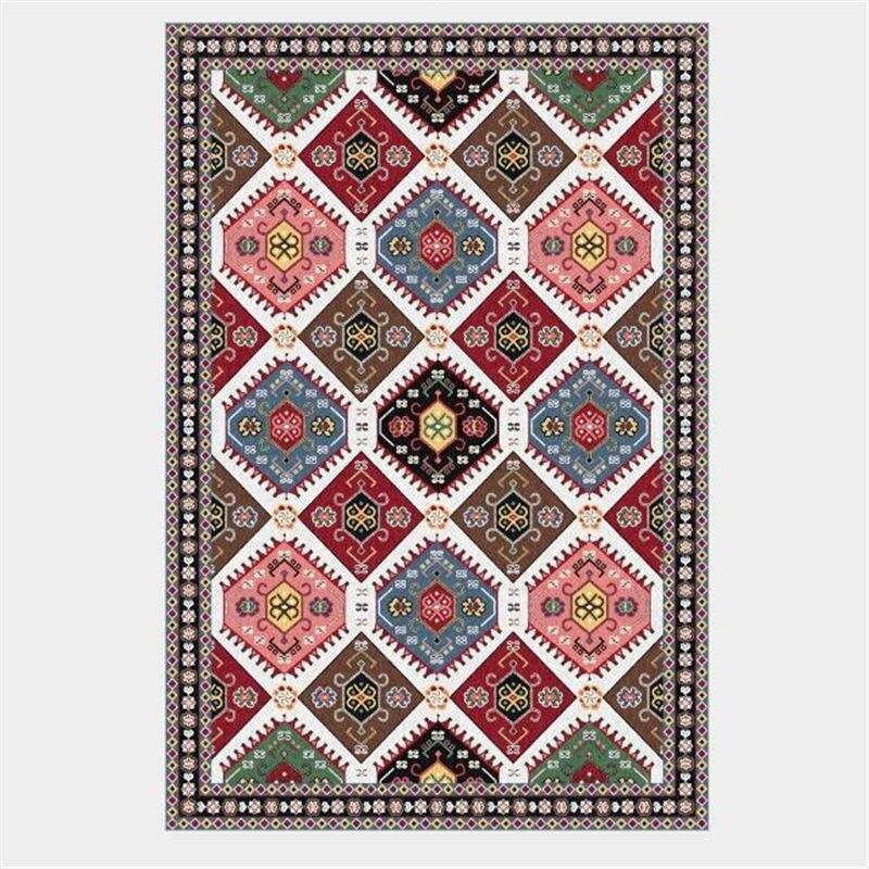 AOVOLL ковры и коврики для дома гостиная Американский Ретро Классический персидский геометрический этнический стиль ковер современный детский Декор мальчик - Цвет: A